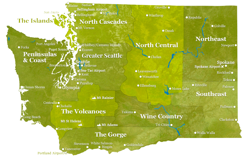Tablet-Optimized Regions of Washington State